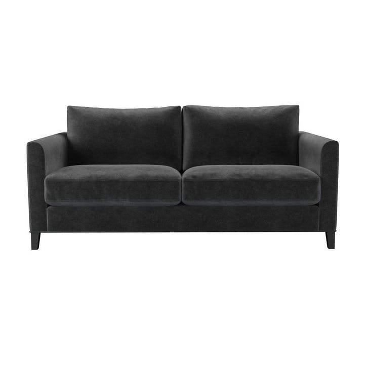 The Izzy, Three Seat Sofa, Armour Smart Velvet