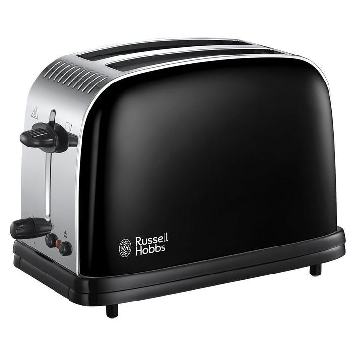 Colours Plus 2 Slice Toaster; Black