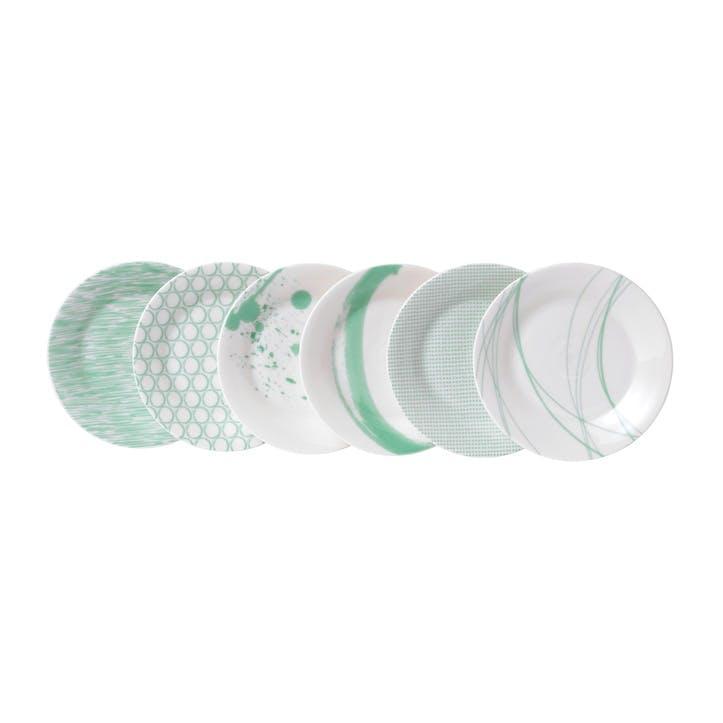 Pacific Mint Tapas Plate, Set of 6