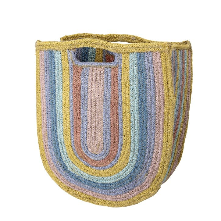 Jute Rainbow Storage Bag