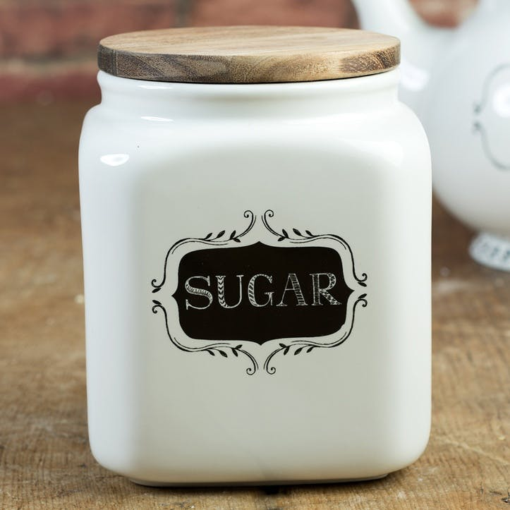 Stir It Up Ceramic Sugar Jar