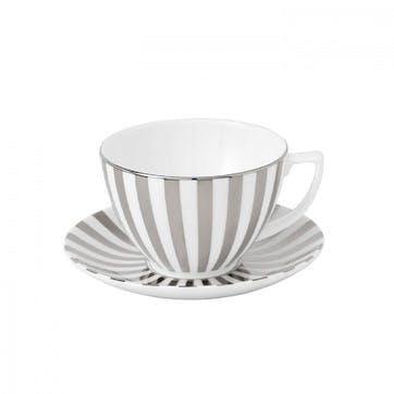 Jasper Conran at Wedgwood Platinum Tea Cup Striped