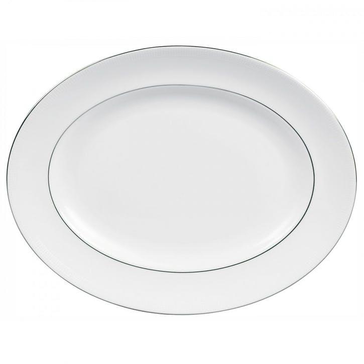 Blanc Sur Blanc Oval Dish, Large