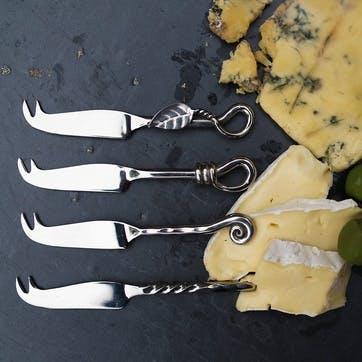 Mini Cheese Knife Mixed Design Four Piece Set