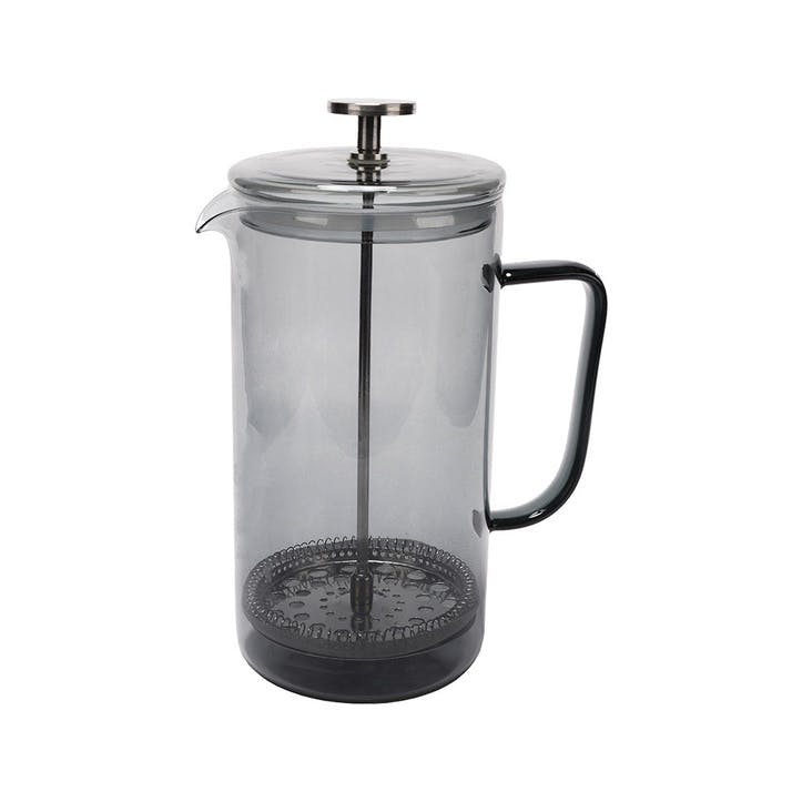 Glass Cafetiere, 8 Cup, Grey