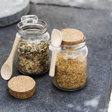 Set of 2 Sprinkle Jars with Wooden Spoons