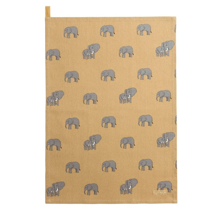 ZSL 'Elephant' Tea Towel