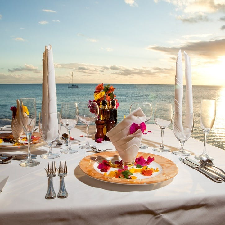Honeymoon Dinner at the Beach £150