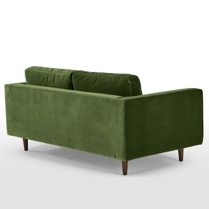 Scott Cotton Velvet Sofa - 2 Seater; Grass Green