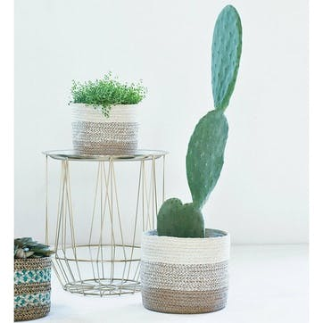 Vika, Set Of 3 Lined Baskets, Natural