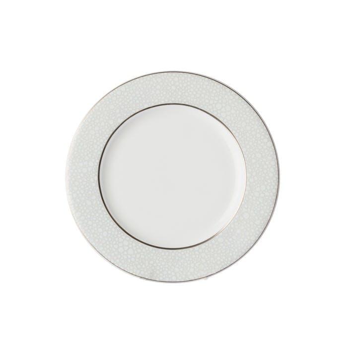 Effervesce Flat Rim Plate, Pearl, 15.6cm