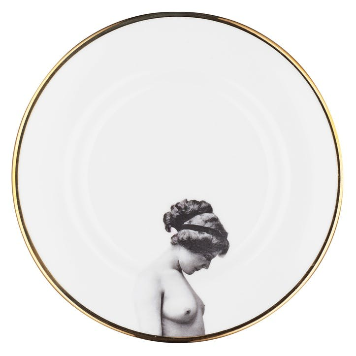 Modern Surrealist The Girl Dinner Plate