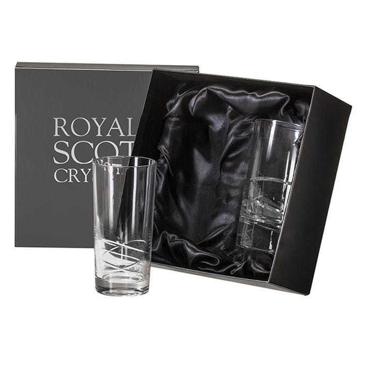 Skye Tall Crystal Tumblers, Set of 2