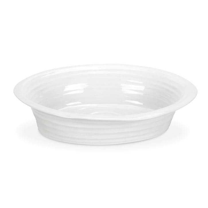 Round Pie Dish; White