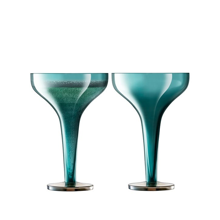 Époque, Champagne Saucer, Set of 2, 150ml, Peacock