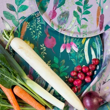 Vegetable Patch Tray, Circular, Rosehip