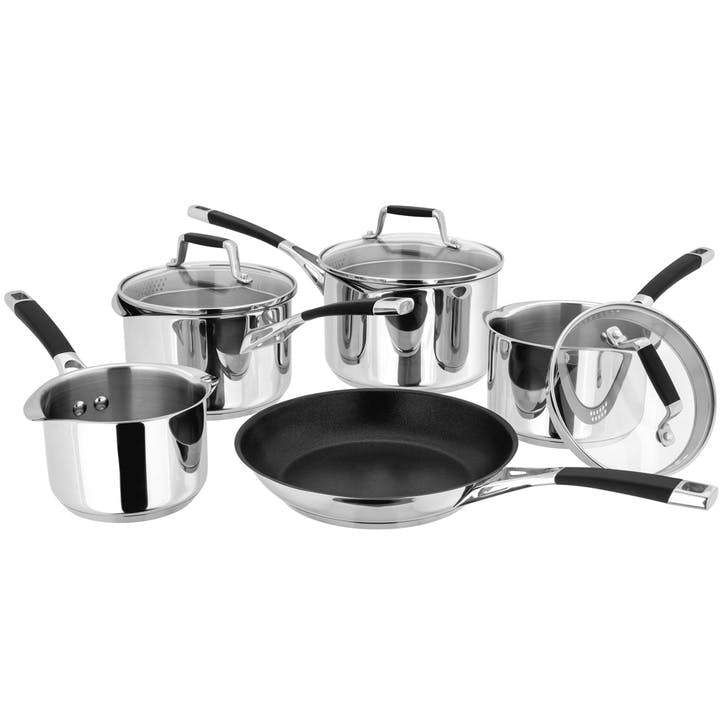 Induction Draining Saucepan Set, 5 Piece