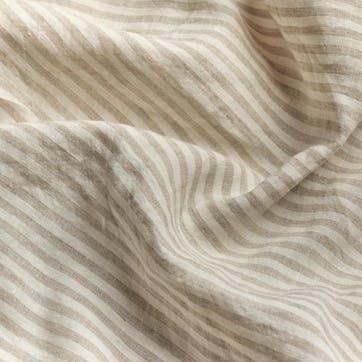 Super King Pillowcase Pair, Oatmeal Stripe