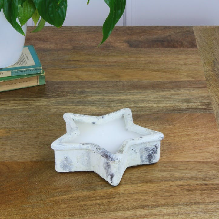 Stone Star Candle
