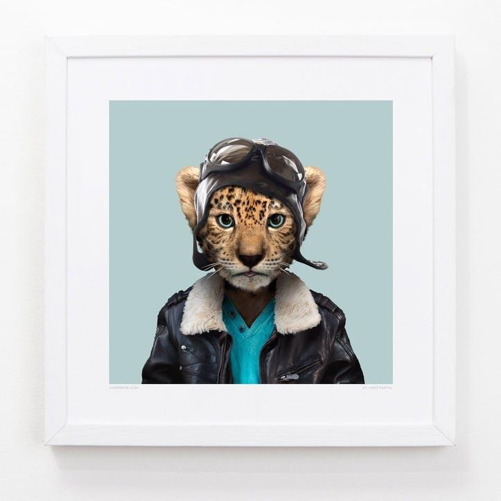 Zoo Portrait Leopard Cub, 33cm x 33cm