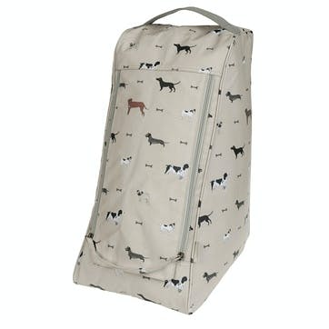 'Woof' Oilcloth Boot Bag
