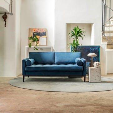 2 Seater Sofa, Model 02, Teal