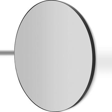 Arles round mirror, Black