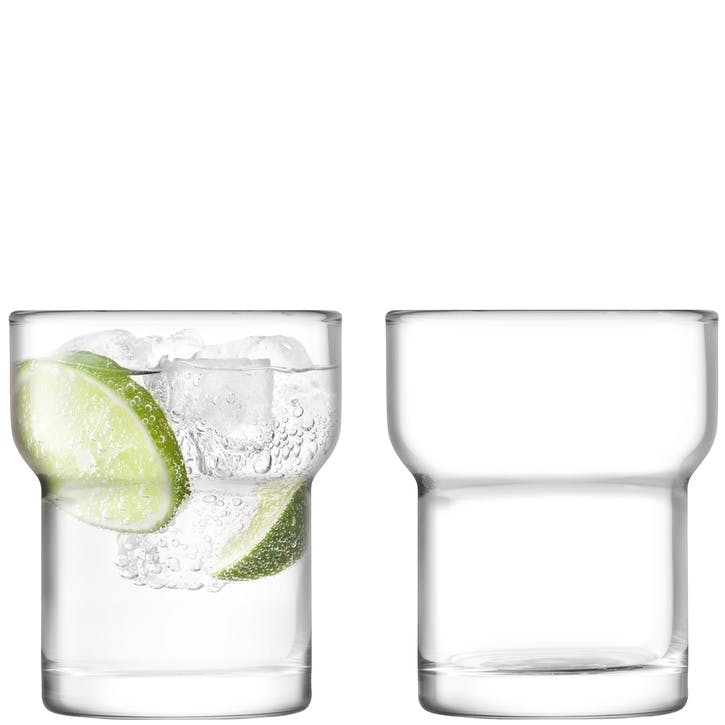 Utility Set of 2 Tumblers; Clear