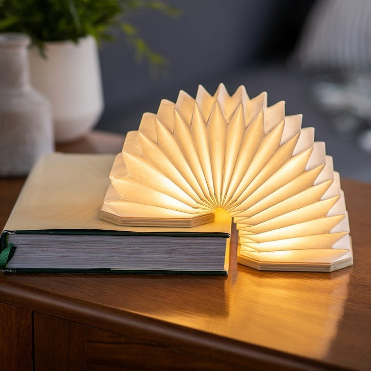Smart Accordion Lamp, Walnut