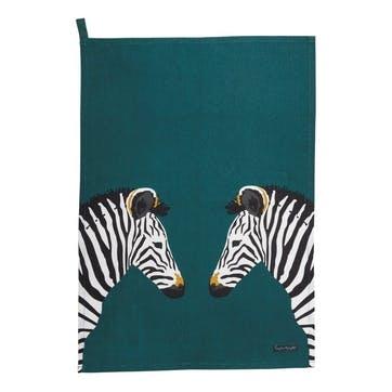 'Zebra' Scene Tea Towel