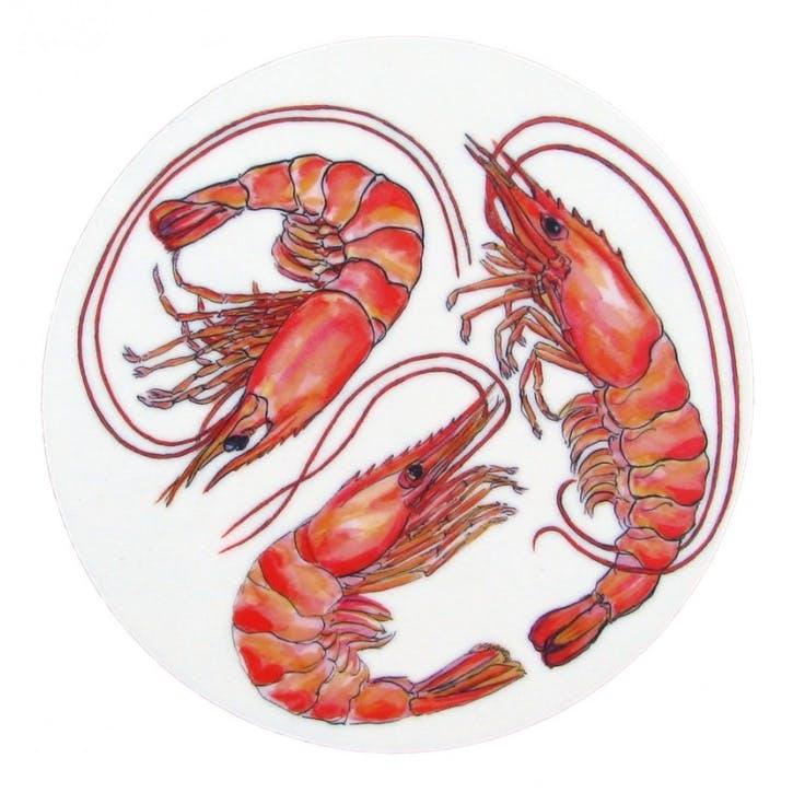 Shrimp & Prawn Coaster - 10cm