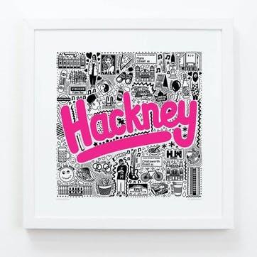 Hometown Hackney Print, 33cm