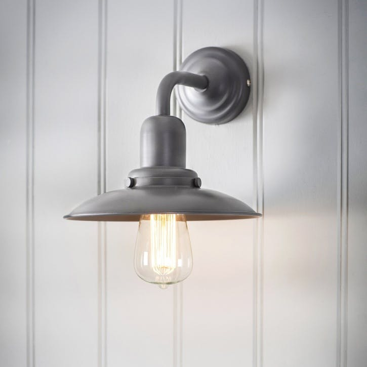 Hobury Wall Light in Charcoal, Steel
