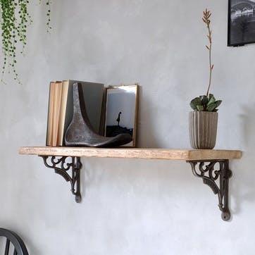 Waterloo Reclaimed Wood Shelf - 65 x 18cm; Natural