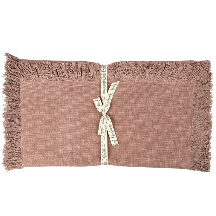 Jute Cotton Table Runner, Pink