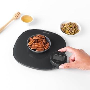 Tasty+ WindUp Digital Kitchen Scales, Dark Grey
