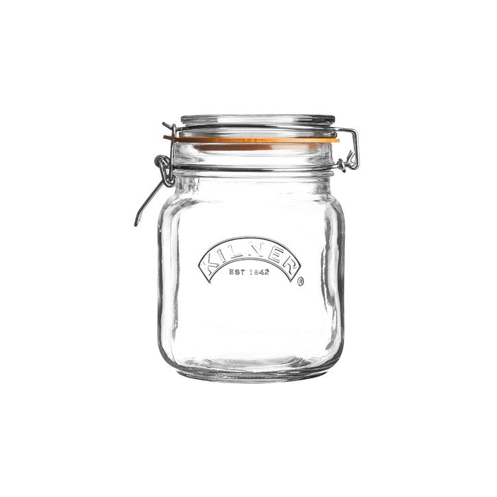 Square Cliptop Jar, 1L