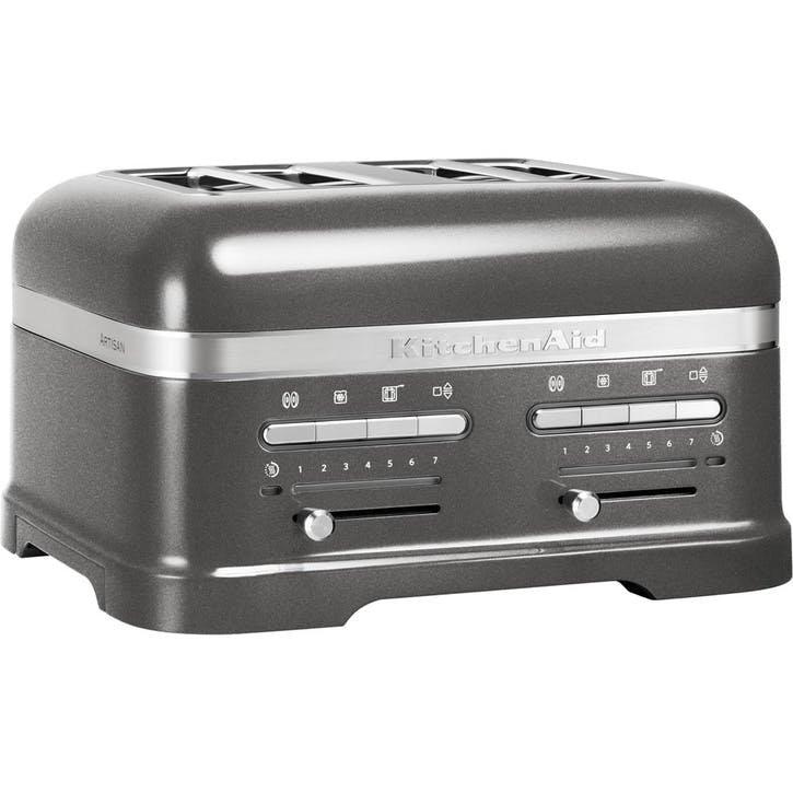 Artisan Toaster 4 Slot; Medallion Silver