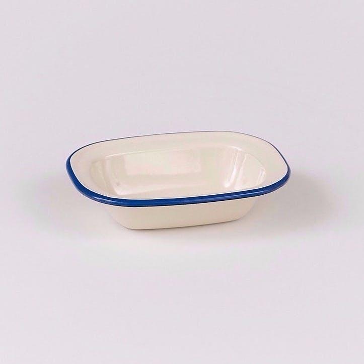 Pie Dish with Blue Rim, 20cm