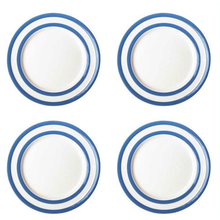 Cornish Blue Breakfast Plates, Set of 4
