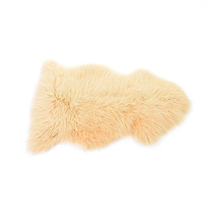 Baa Stool Sheepskin Rug, Buttermilk