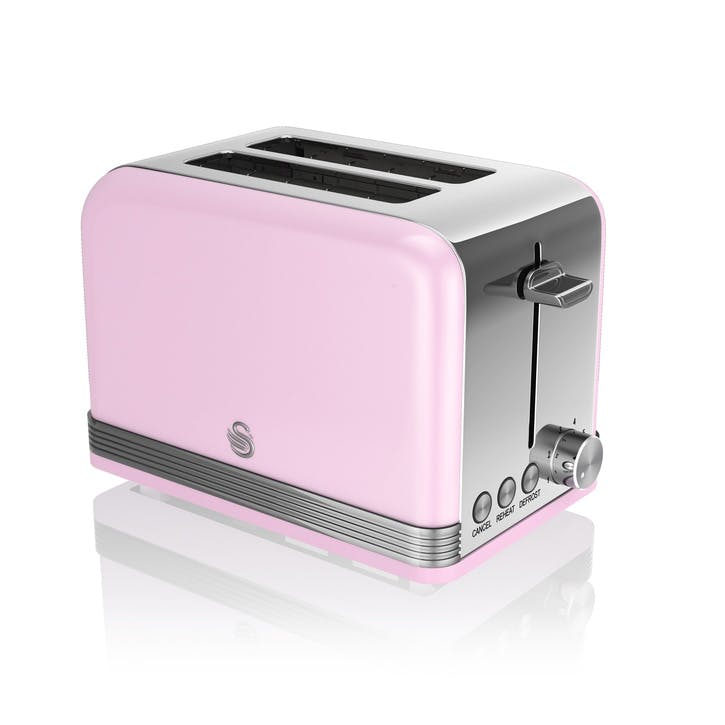 Retro 2-Slice Toaster, Pink