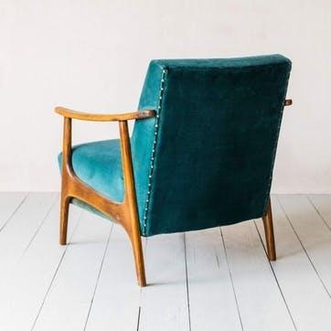 Velvet Upholstered Armchair