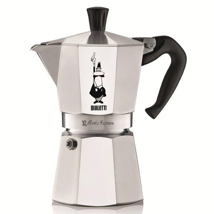 Moka Express Espresso Maker, 6 Cup, Silver
