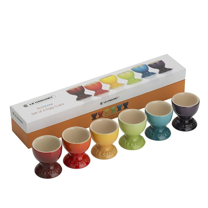 Rainbow Egg Cups, Set of 6