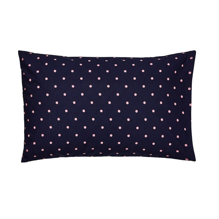 Beau Floral Standard Pillowcase, French Navy