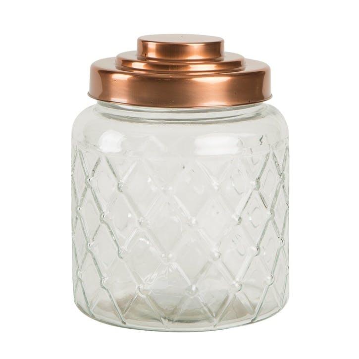 Lattice Glass Jar, Fat