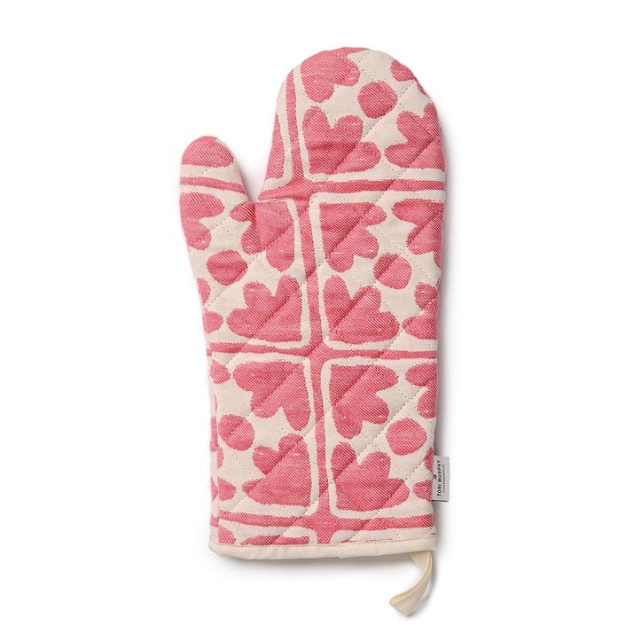 Bloom Oven Glove; Radish and Cream