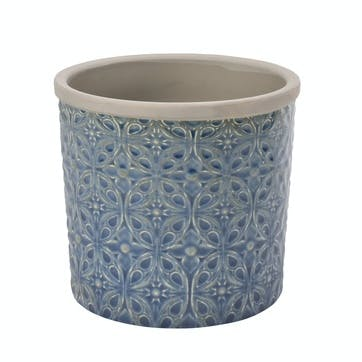 Porto Indoor Plant Pot, Dark Blue