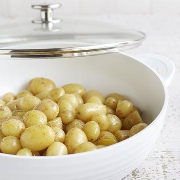 Shallow Casserole Dish; White